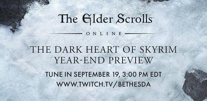 Elder Scrolls Online - Mira el avance de The Dark Heart of Skyrim Finale el 19 de septiembre