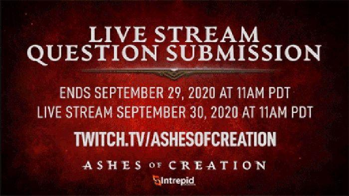 Transmisión en vivo de Ashes of Creation programada para el 30 de septiembre