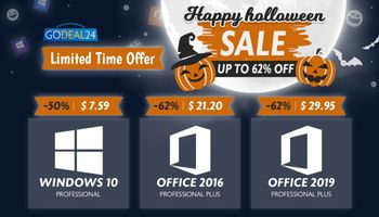 Godeal24.com Halloween Pre-Sale: Deals On Windows 10 Pro, Office And More (SPONSORED)