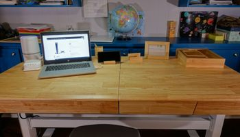 UPLIFT V2 Craft Table Review: A Standing Desk with Storage!