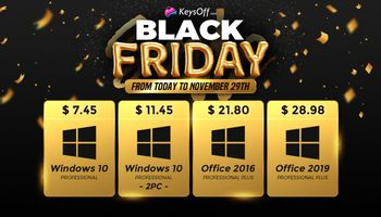 Black Friday Special Deals - Windows 10 Pro $7.45 and 58% extra discount on all Software (SPONSORED)