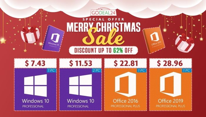 Oferta navideña de software: Windows 10 Pro $ 7.43, Office 2019 Pro $ 28.96 y más (PATROCINADO)