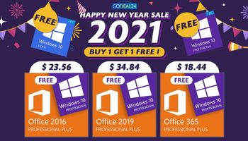Best New Year Sales 2020: Buy Microsoft Office Pro Plus CD-Key, get Windows 10 CD-Key for free! (SPONSORED)