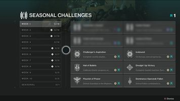 Seasonal Challenges Coming to Destiny 2