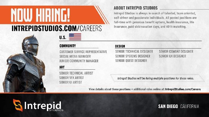 Ashes of Creation Developer Intrepid Studios is Hiring