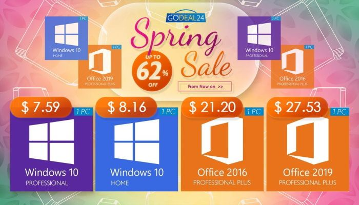 Spring Software Keys Sale - Windows 10 Pro $7.59, Office 2019 $27.53 and more limited offers! (SPONSORED)