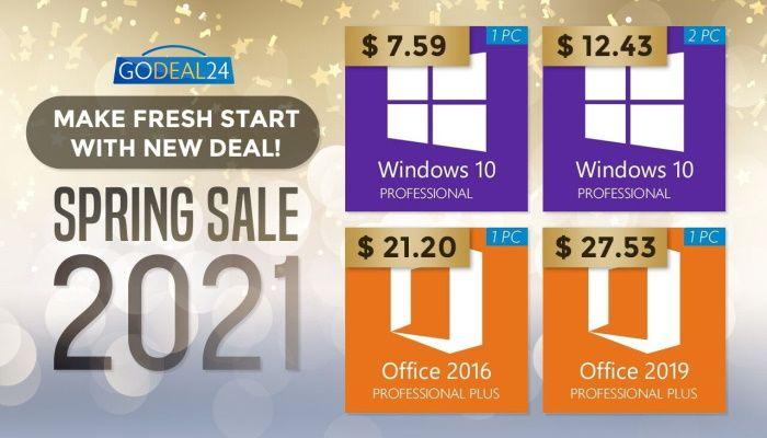 Получите Windows 10 Pro всего за 7,59 долларов США на весенней распродаже GoDeal24 (ПРИ ПОДДЕРЖКЕ) |  MMORPG.com