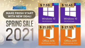 Get Windows 10 Pro for only $7.59 With GoDeal24's Spring Sale (SPONSORED)