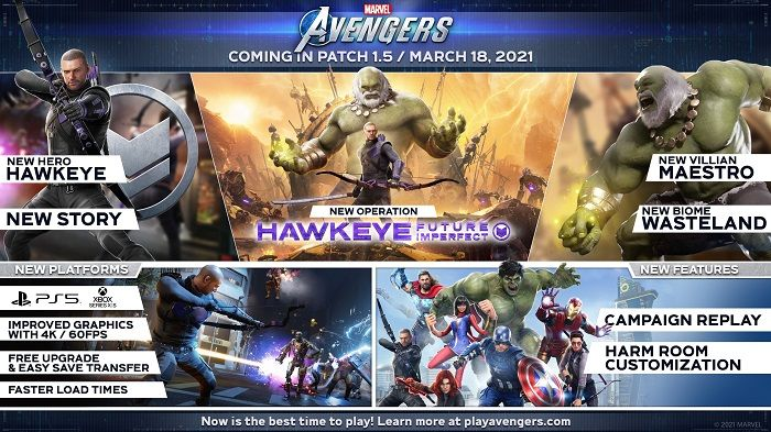 Marvel's Avengers Breaks Down What's Coming in Update 1.5 - Campaign Replay, Hawkeye and Maestro
