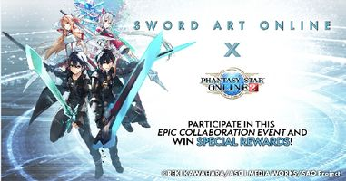 Phantasy Star Online 2 x Sword Art Online Collaboration Event Starts May 12