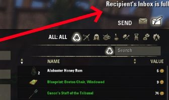 Elder Scrolls Online Players' Mailboxes Are Incorrectly Showing as 'Full' When They're Actually Empty