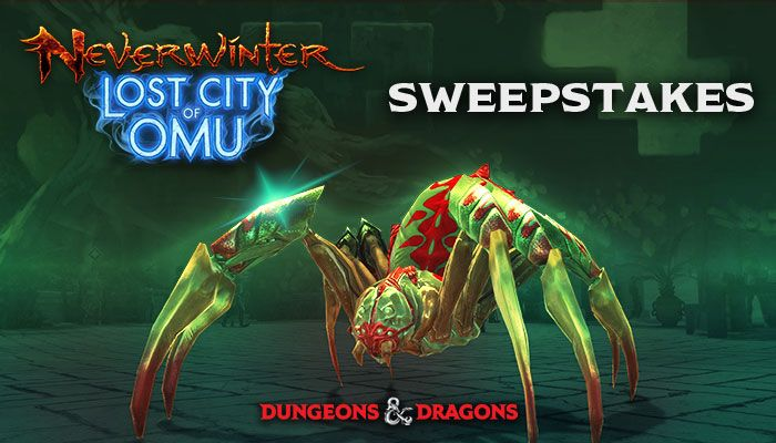 Neverwinter Lost City of Onu Spider Mount Sweepstakes (Console Only)