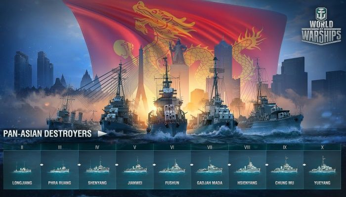 Dasha Presents Update 0.6.14 - Pan-Asian Destroyers - World of Warships - MMORPG.com
