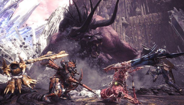 Monster Hunter World -  FFXIV's Behemoth Lands, Ready to Do Battle