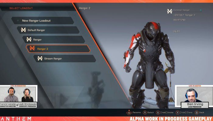 Anthem Developer Stream Replay - Javellin Customization
