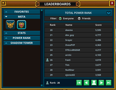 Evolving Leaderboards Now Active in Game - MMORPG com