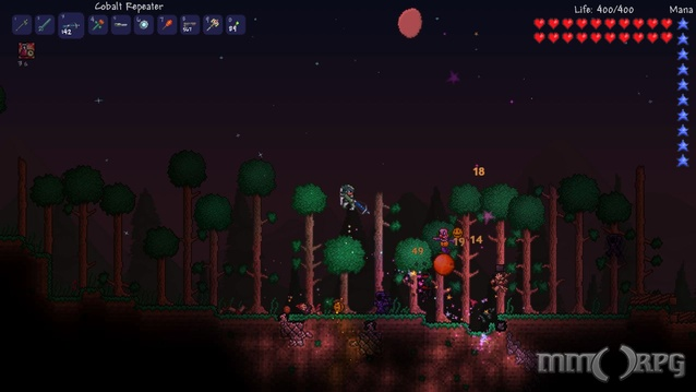 Explore, build, and create in the sandbox Terraria.