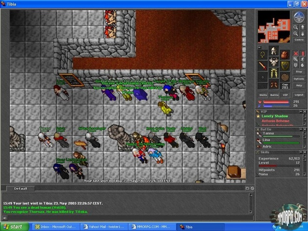 Tibia screenshots for Door 999 tibia